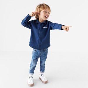 Zara Toddler Boys Light Wash Skinny Jeans
